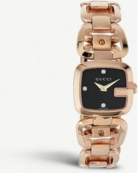 88e385cb099 Gucci - Ya125512 G- Collection Pink-gold Pvd Watch - Lyst