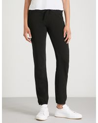 James Perse - Relaxed-fit Mid-rise Cotton-jersey Jogging Bottoms - Lyst