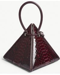 Nita Suri - Lia Pyramid Python-embossed Leather Handbag - Lyst