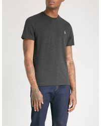 Polo Ralph Lauren | Logo-embroidered Cotton-jersey T-shirt | Lyst