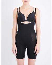 Spanx Thinstincts Open-front Microfibre Bodysuit - Black
