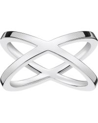 Thomas Sabo - Criss-cross Sterling Silver Ring - Lyst