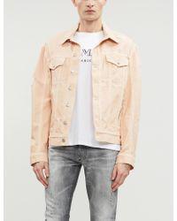 b37649f5 Balmain Circle Logo-print Cotton T-shirt for Men - Lyst