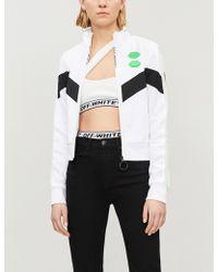 Off-White c/o Virgil Abloh - Logo-print Asymmetric Bikini Set - Lyst