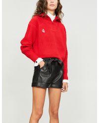 Maje - Ibord Leather Shorts - Lyst