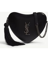 Saint Laurent - Heart-shaped Leather Cross-body Bag - Lyst