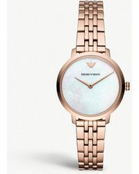 Emporio Armani - Modern Slim Rose Gold-toned Watch - Lyst