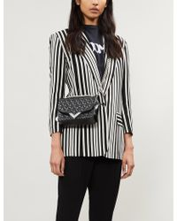 789c74a3bf6 The Kooples - Black Cotton Jacket With Printed Stripes - Lyst