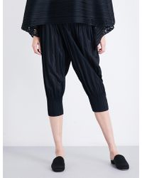 Pleats Please Issey Miyake - Ladies Pleated Innovative Fluffy Basic Cropped Trousers - Lyst