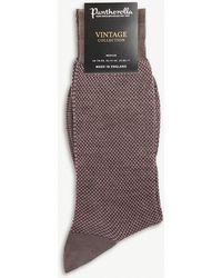 Pantherella - Blenheim Birdseye Wool-blend Socks - Lyst