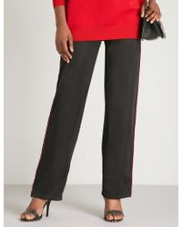 Givenchy - Side-stripe Straight Jersey Jogging Bottoms - Lyst