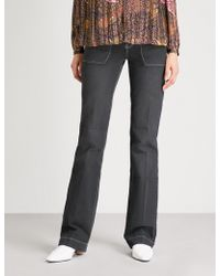 Ba&sh - Wide-leg High-rise Jeans - Lyst