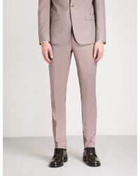 The Kooples - Tapered Wool-mix Trousers - Lyst