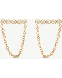 The Alkemistry - Zoë Chicco 14ct Gold Diamond Stud Earrings - Lyst