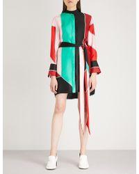 Diane von Furstenberg - Oversized Silk-twill Shirt Dress - Lyst