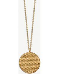 Astley Clarke - Floris 18-ct Yellow-gold Vermeil Mille Locket Necklace - Lyst