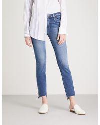 PAIGE - Hoxton Raw-hem Skinny High-rise Jeans - Lyst
