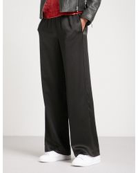 J Brand - Ladies Black Arden Wide-leg Satin Trousers - Lyst
