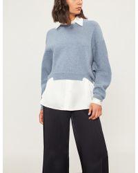 Stella McCartney - Cropped Wool And Alpaca-blend Waffle-knit Jumper - Lyst