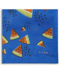 Eton of Sweden - Watermelon Linen Pocket Square - Lyst