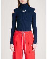 Mo&co. - Fake Turtleneck Knittted Jumper - Lyst