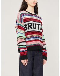 The Ragged Priest - Logo-intarsia Knitted Jumper - Lyst
