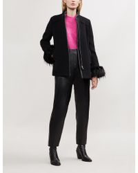 Claudie Pierlot - Green Bis Wool-blend Coat - Lyst