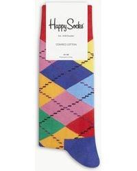 Happy Socks - Argyle Cotton Socks - Lyst
