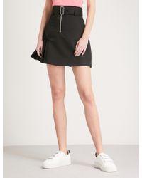 Sandro | Frilled-panel Cotton Mini Skirt | Lyst