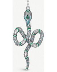Thomas Sabo - Tropical Sterling Silver And Coloured Stone Snake Pendant - Lyst