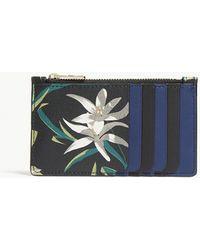 Diane von Furstenberg | Floral Print Leather Card Case | Lyst