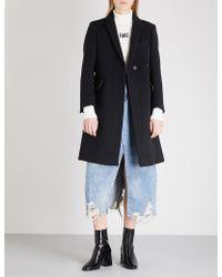 Mo&co. - Notch-lapel Wool-blend Coat - Lyst