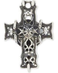 Emanuele Bicocchi | Sterling Silver Cross Earring | Lyst