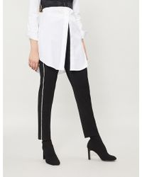 The Kooples - Crystal-embellished Trim Stretch-wool Trousers - Lyst
