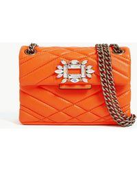 9602bcca54 Kurt Geiger - Mini Mayfair Quilted Leather Cross-body Bag - Lyst