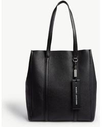 Marc Jacobs - Ladies Black Tag Leather Tote Bag - Lyst