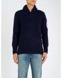 Polo Ralph Lauren - Shawl Collar Wool Jumper - Lyst