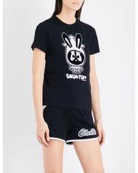 Mini Cream - Squid Puff Cotton-jersey T-shirt - Lyst