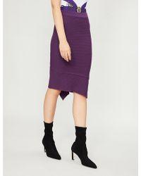 Pinko - Undercloser Wool-blend Skirt - Lyst
