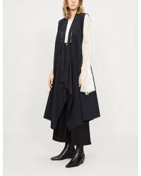 Limi Feu - Open-back Sleeveless Tie-front Jacket - Lyst