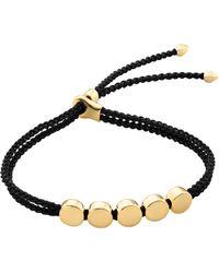 Monica Vinader - Linear Bead 18ct Gold-plated Friendship Bracelet - Lyst