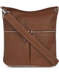 Longchamp - Le Foulonné Leather Cross-body Bag - Lyst