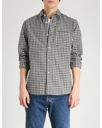 A.P.C. - Victor Regular-fit Checked Cotton Shirt - Lyst