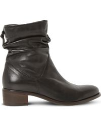 Dune - Ladies Black Pager Leather Ankle Boots - Lyst