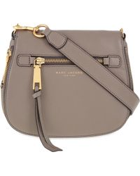 Marc Jacobs - Mink Recruit Grained Leather Saddle Bag - Lyst