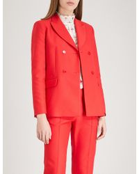 Sandro - Double-breasted Woven Jacket - Lyst