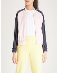 Mo&co. - Embroidered Satin Jacket - Lyst