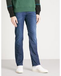 7 For All Mankind - Slimmy Slim-fit Tapered Jeans - Lyst