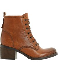 Dune - Patsie Lined Leather Ankle Boots - Lyst