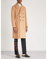 Gucci - Dragon Embroidered Wool And Cashmere-blend Coat - Lyst
